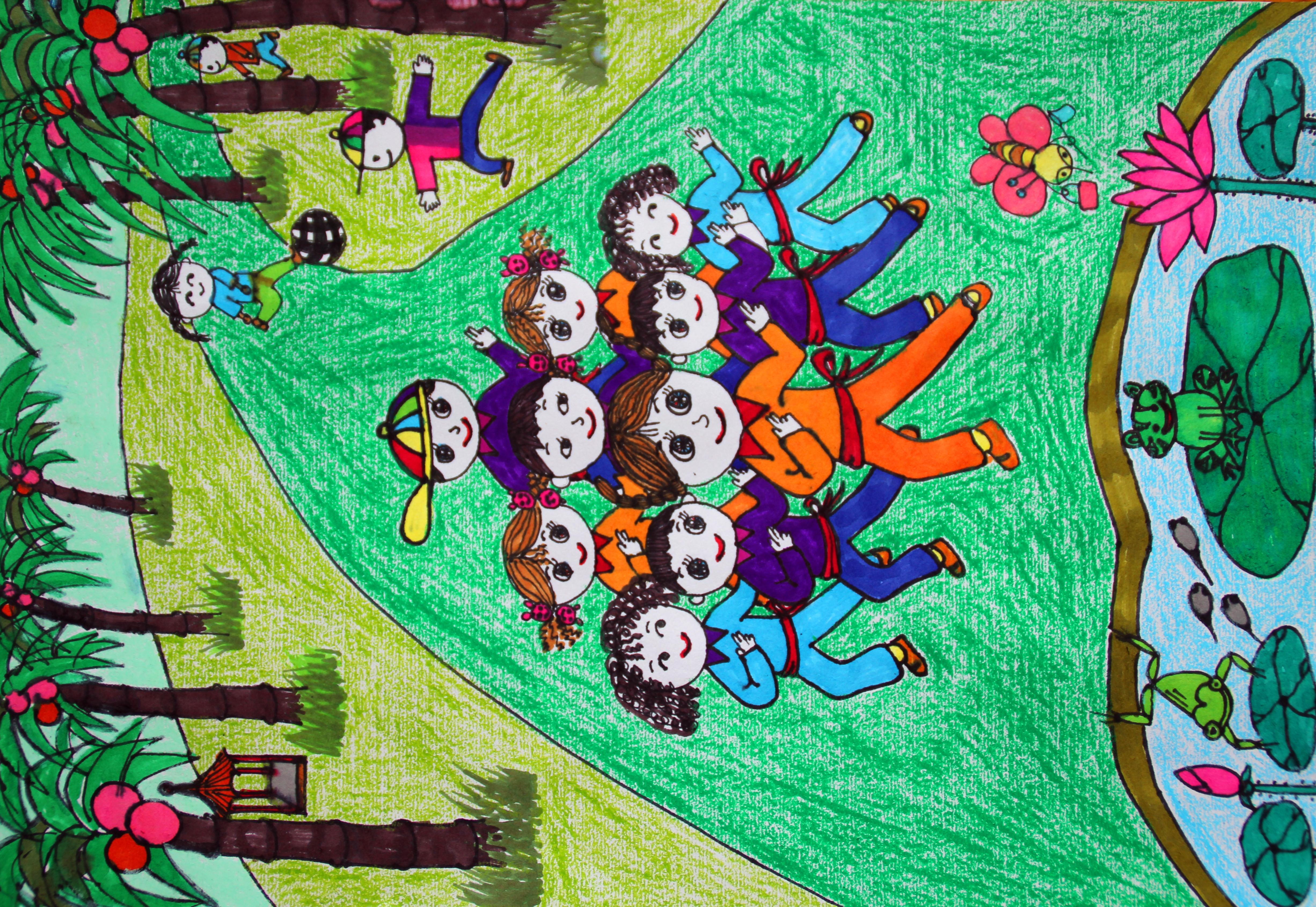 而活泼,可爱,朝气蓬勃的小朋友们做着各种各样的运动,迎接伦敦奥运的