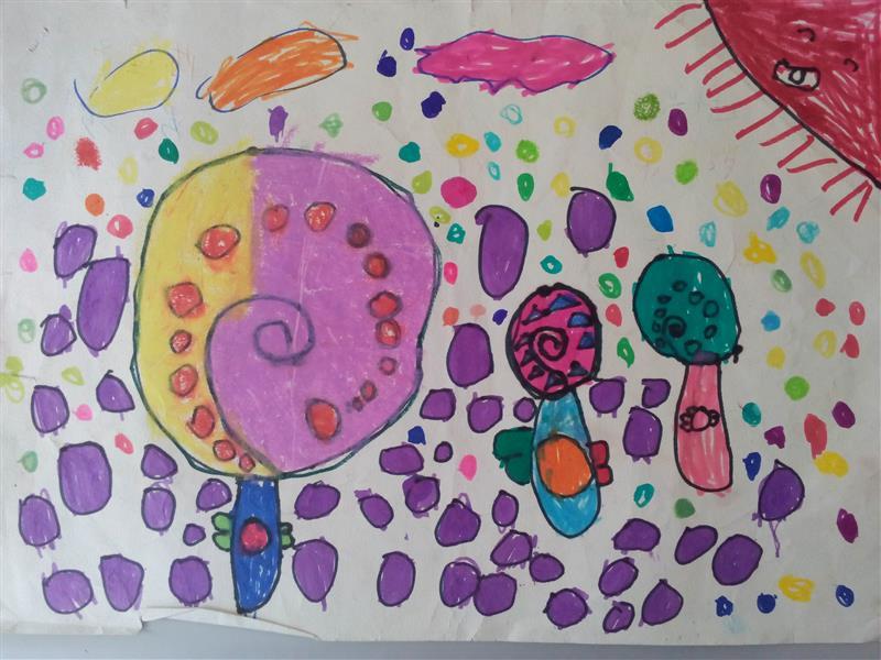 幼儿小班绘画作品棒棒糖